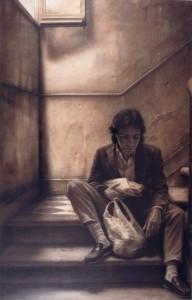 Antonio en la escalera