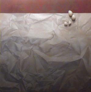 Bodegón del papel y los huevos