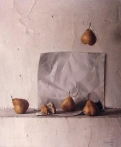 Bodegón de peras